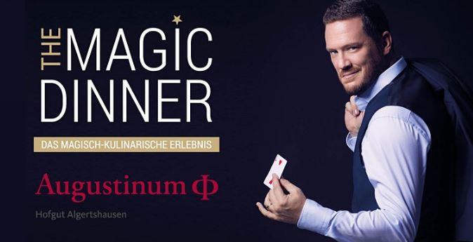 Die erfolgreiche Dinnershow THE MAGIC DINNER jetzt im Hofgut Algertshausen
