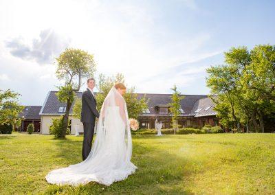 Brautpaar Außenanlage
