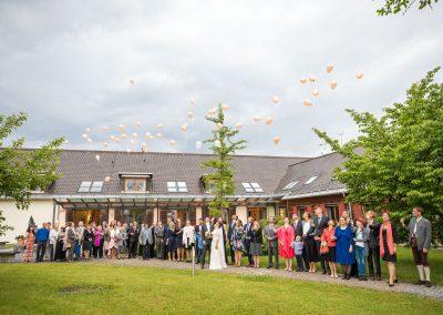 Hochzeit mit Luftballons